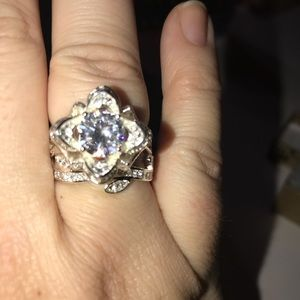Sterling Silver, CZ Rose Ring size 10
